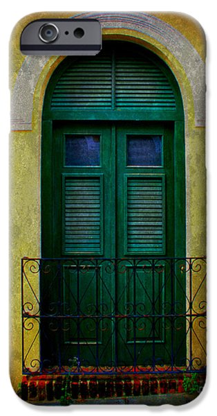 Vintage Arched Door iPhone Case by Perry Webster