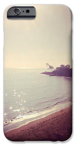 Rincon Beach iPhone Cases - Vintage Beach Cove iPhone Case by Michelle LaRue