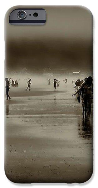 Vintage Beach Walk iPhone Case by David Patterson