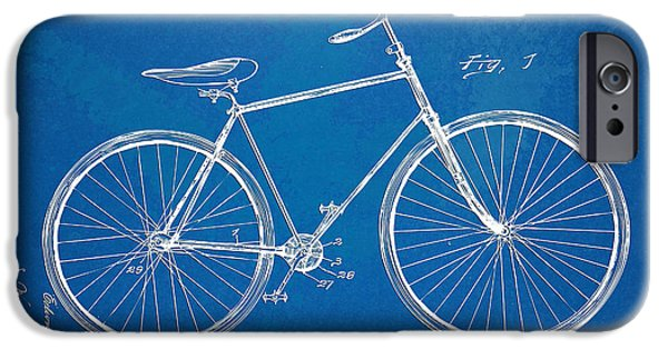 Freedom Digital iPhone Cases - Vintage Bicycle Patent Artwork 1894 iPhone Case by Nikki Marie Smith