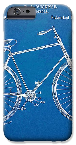 Vintage Bicycle Patent Artwork 1894 iPhone Case by Nikki Marie Smith