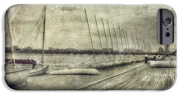 Charles River iPhone Cases - Vintage Boston MIT Sailing Pavilion iPhone Case by Joann Vitali