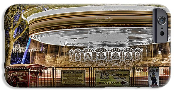 Carousel iPhone Cases - Vintage Carousel iPhone Case by Martin Newman