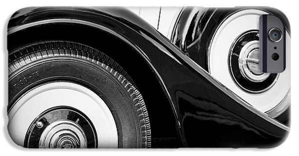 Vintage Car Pyrography iPhone Cases - Vintage cars collection in Paris. iPhone Case by Cyril Jayant