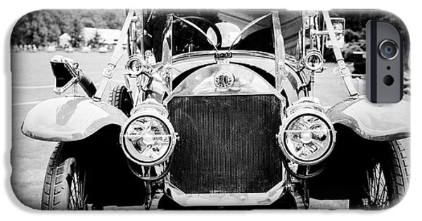 Vintage Car Pyrography iPhone Cases - Vintage classic Cars collection in Paris. iPhone Case by Cyril Jayant