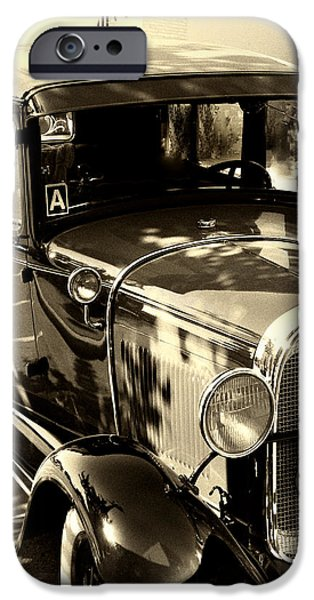 Vintage Classic Ride iPhone Case by Julie Palencia