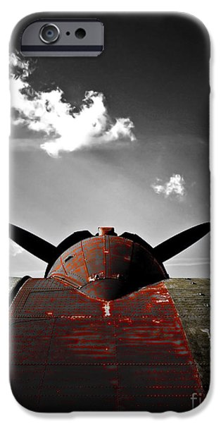 VINTAGE DC-3 AIRCRAFT  iPhone Case by Steven  Digman