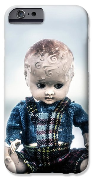 Creepy iPhone Cases - Vintage Doll iPhone Case by Joana Kruse