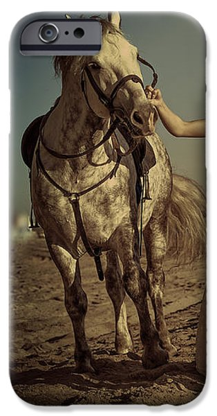 Horse iPhone Cases - Vintage Dream iPhone Case by Jenny Rainbow