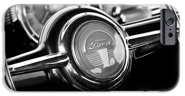 Old Cars iPhone Cases - Vintage Ford Automobile Fine Art Print iPhone Case by Ed Petersen