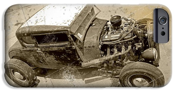 Bad Ass iPhone Cases - Vintage Ford Hot Rod iPhone Case by Christopher McKenzie