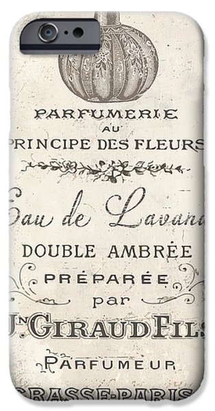 French Signs iPhone Cases - Vintage French Perfume Sign iPhone Case by Mindy Sommers