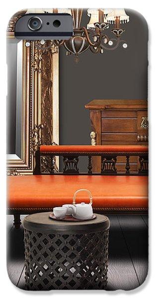 vintage furnitures iPhone Case by ATIKETTA SANGASAENG