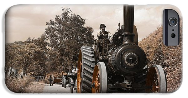 Machinery iPhone Cases - Vintage Heavy Metal iPhone Case by David Birchall