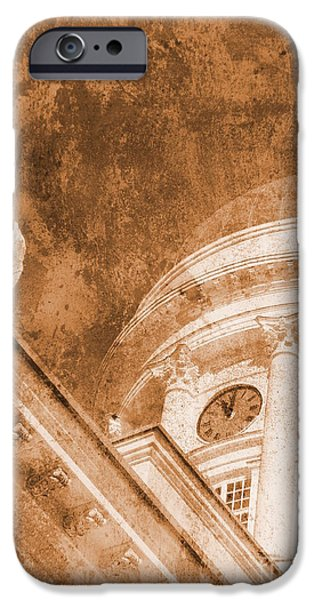 Buildings Mixed Media iPhone Cases - Vintage Helsinki Cathedral iPhone Case by Alan Hogan