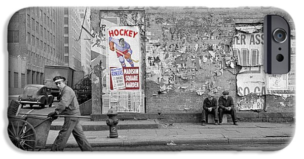Hockey Photographs iPhone Cases - Vintage Hockey Poster iPhone Case by Andrew Fare