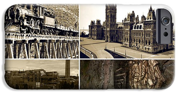 Politician iPhone Cases - Vintage images Canadian Mining Archive of World War period   iPhone Case by Navin Joshi