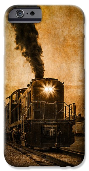 Old Digital Art iPhone Cases - Vintage Locomotive iPhone Case by Dale Kincaid