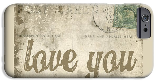 Day iPhone Cases - Vintage Love Letters iPhone Case by Edward Fielding