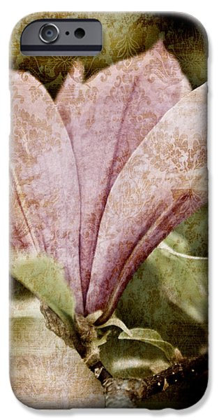 Fashion Abstract iPhone Cases - Vintage Magnolia iPhone Case by Frank Tschakert