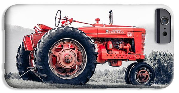 Agricultural iPhone Cases - Vintage McCormick Farmall Tractor iPhone Case by Edward Fielding