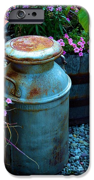 Rust iPhone Cases - Vintage Milk Can iPhone Case by Richard Jenkins