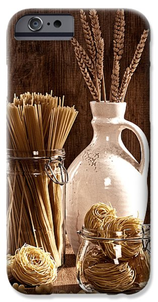 Raw iPhone Cases - Vintage Pasta  iPhone Case by Amanda And Christopher Elwell