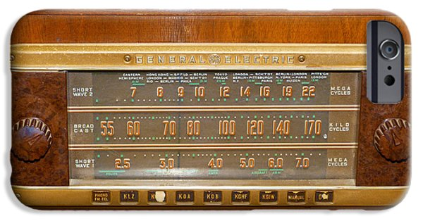 Electronic iPhone Cases - Vintage Radio iPhone Case by Susan Porter