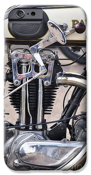 23 iPhone Cases - Vintage Raleigh Motorcycle iPhone Case by Tim Gainey
