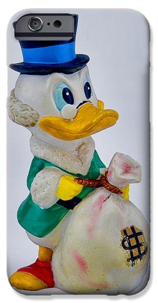 Scrooge iPhone Cases - Vintage Scrooge McDuck iPhone Case by Olga Hamilton