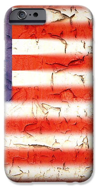 Vintage Stars and Stripes iPhone Case by Jane Rix