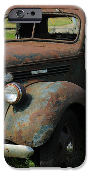 Rust iPhone Cases - Vintage Truck iPhone Case by Robert Hamm
