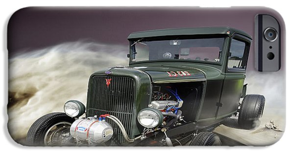 Old Cars iPhone Cases - Vintage Vehicle iPhone Case by Melissa Messick