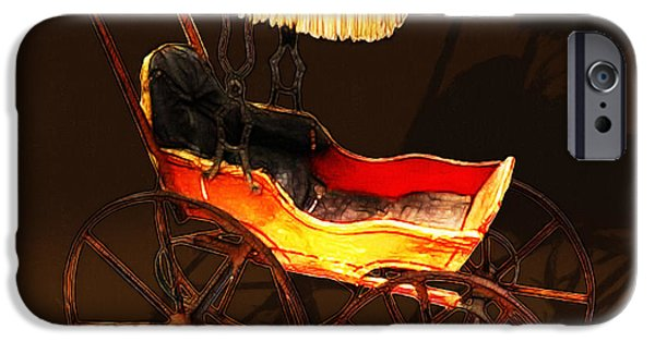 First Lady iPhone Cases - Vintage Victorian Stroller 20150921 square iPhone Case by Wingsdomain Art and Photography