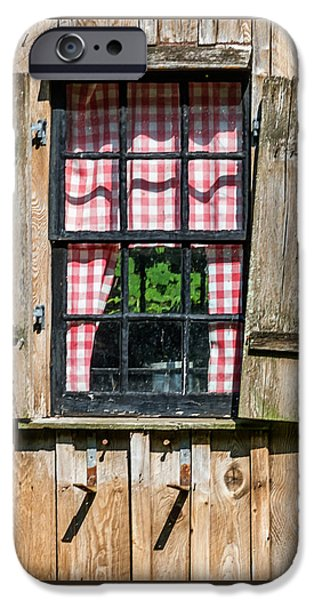 Rural iPhone Cases - Vintage Window Cuttalossa Farm PA iPhone Case by Terry DeLuco