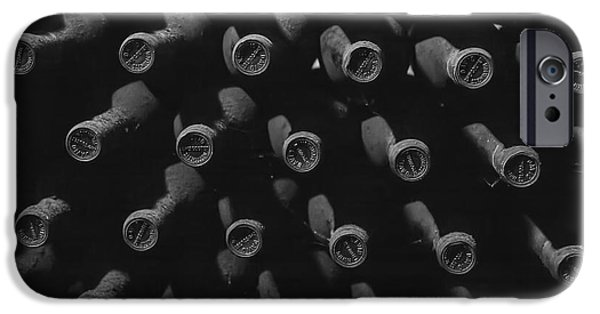 Vintage Wine Lovers Photographs iPhone Cases - Vintage Wine iPhone Case by Nomad Art And  Design