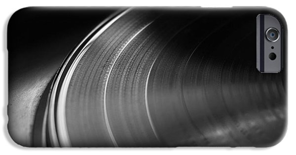 Disc iPhone Cases - Vinyl Record and Turntable iPhone Case by Angelo DeVal