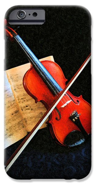 Sheets iPhone Cases - Violin Impression iPhone Case by Kristin Elmquist