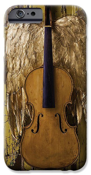 Chip iPhone Cases - Violin With Wings iPhone Case by Garry Gay
