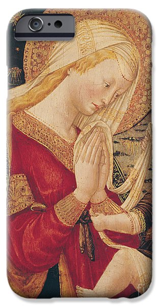 Religious iPhone Cases - Virgin and Child  iPhone Case by Neri di Bicci