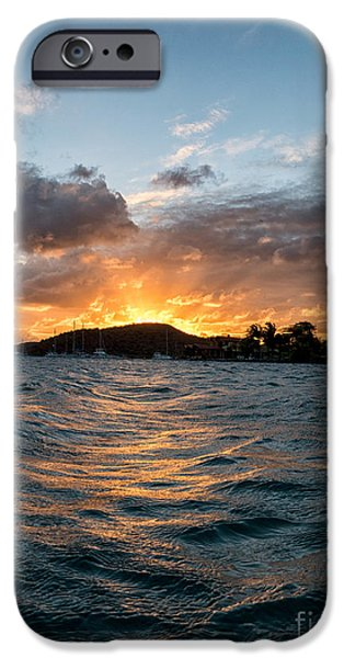 Peacefull iPhone Cases - Virgin Island Sunset iPhone Case by Lavold Photography