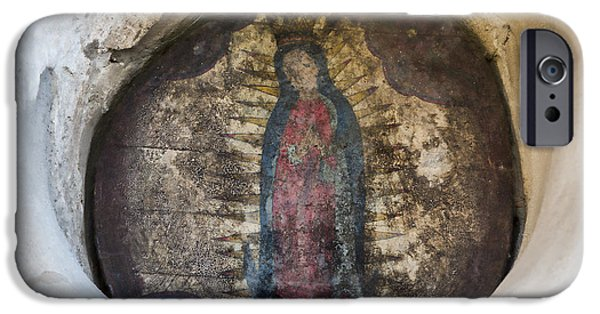 Miracle iPhone Cases - Virgin of Guadalupe - San Juan Capistrano iPhone Case by Stephen Stookey