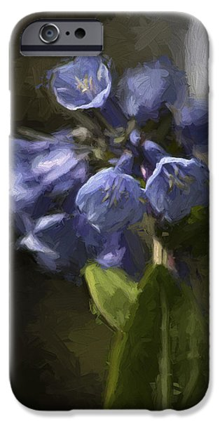 Shape iPhone Cases - Virginia Blue Bell Flowers iPhone Case by Ron Grafe