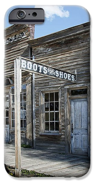 VIRGINIA CITY GHOST TOWN - MONTANA iPhone Case by Daniel Hagerman