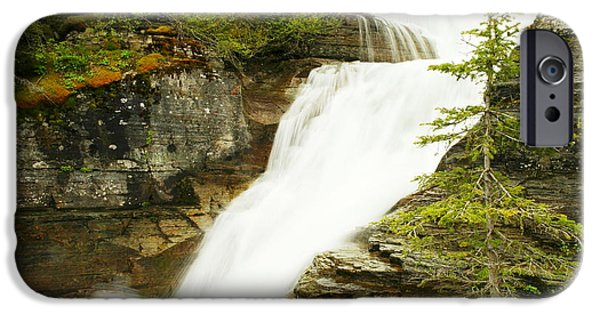 River iPhone Cases - Virginia Falls iPhone Case by Jeff  Swan