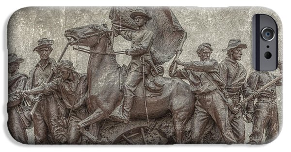 Statue Of Confederate Soldier iPhone Cases - Virginia Monument Gettysburg Battlefield iPhone Case by Randy Steele