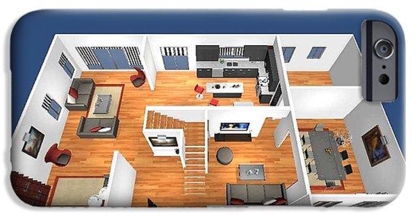 Virtual iPhone Cases - Virtual Floor Plan iPhone Case by Yantram Studio