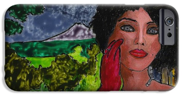 Virtual Paintings iPhone Cases - Virtual Smoke iPhone Case by Phil Strang