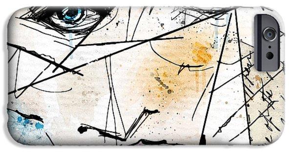 Strange iPhone Cases - Visage Abstrait iPhone Case by Gary Bodnar