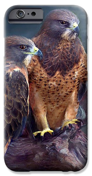Hawk Art Print iPhone Cases - Vision Of The Hawk iPhone Case by Carol Cavalaris